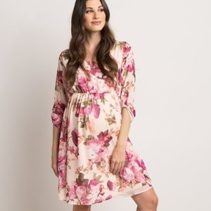Pinkblush Dresses - Pinkblush floral chiffon maternity dress